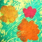 Warhol Flower Monoprints
